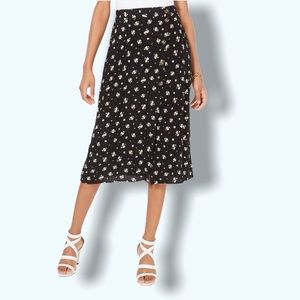 Ultra Flirt Juniors' Floral-Print Midi Skirt